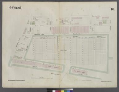 [Plate 10: Map bounded by Hamilton Avenue, Van Brunt Street, Clinton Wharf, Buttermilk Channel]