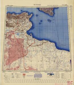 Africa  1:2.000.000, Tunisie