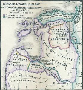 Esthland, Livland, Kurland nach ihren kirchlichen Verhältnissen im Mittelalter