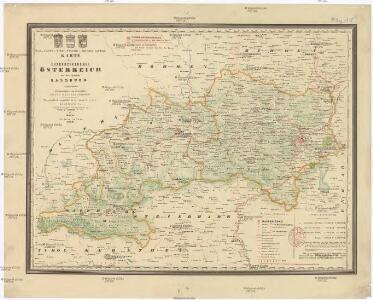 Kreis-, Gerichts-, Völker-, Telegrafen-, Eisenbahn- und Post Karte des Erzherzogthumes Österreich und Herzogthumes Salzburg