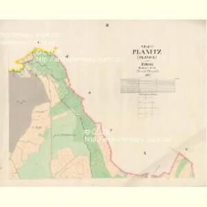 Planitz (Planice) - c5807-1-002 - Kaiserpflichtexemplar der Landkarten des stabilen Katasters