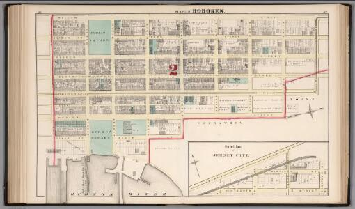 Hoboken - Plate D.  Sub-Plan to Jersey City.
