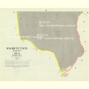 Wschetetsch (Wssetec) - c8913-1-005 - Kaiserpflichtexemplar der Landkarten des stabilen Katasters