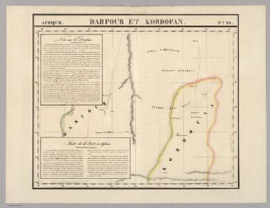 Darfour et Kordofan. Afrique 24.