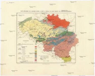 Carte géologique de la Belgique
