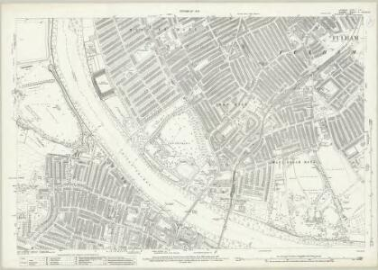 London (1915- Numbered sheets) VIII.7 (includes: Barnes; Fulham; Wandsworth Borough) - 25 Inch Map
