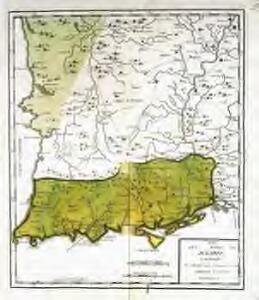Mapa del reyno de Algarve