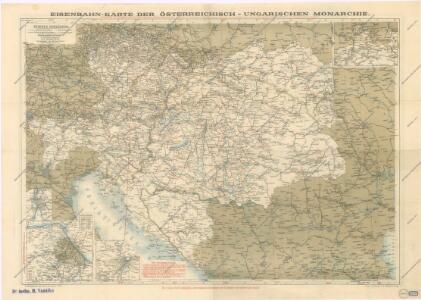 Eisenbahnkarte der österreichisch-ungarischen Monarchie