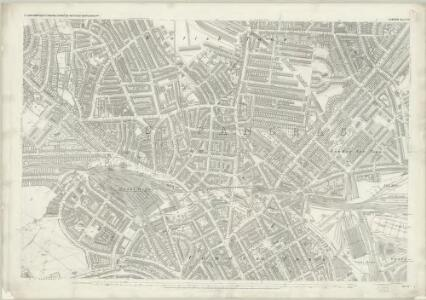 London (First Editions c1850s) XVI (includes: Hampstead; St Pancras) - 25 Inch Map