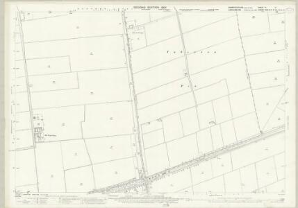 Cambridgeshire VI.10 (includes: Parson Drove; Sutton St Edmund; Thorney; Wisbech St Mary) - 25 Inch Map