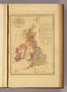 Carte Physique et Mineralogique des Isles Britanniques