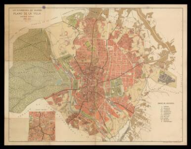 Ayuntamiento de Madrid. Plano de la villa