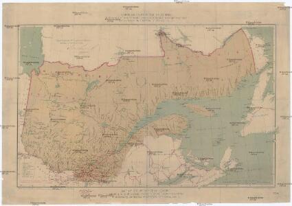 Carte de la province de Quebec