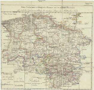 Kleine Postkarte des Königreichs Hannover und der angrenzenden Länder