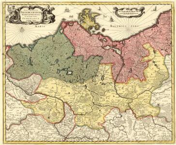 Electoratvs Brandenburgi, Mekelenburgi, Et maximae Partis Pomeraniae novissima Tabula