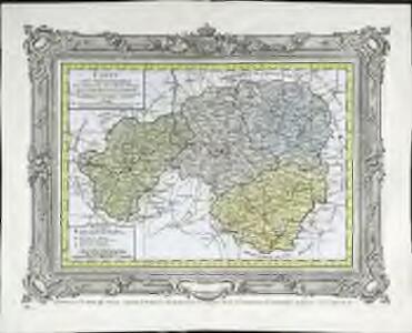 Carte des départemens de la Charente, de la Haute Vienne, de la Creuse et de la Correze