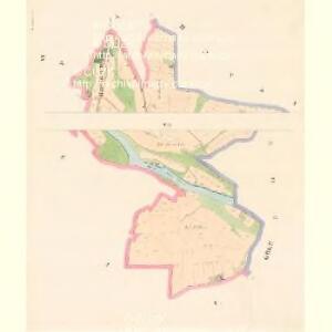 Hoschtitz (Hosstitz) - c7453-1-005 - Kaiserpflichtexemplar der Landkarten des stabilen Katasters