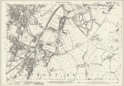 Staffordshire LXXII.2 (includes: Oldbury; Smethwick; Warley Woods) - 25 Inch Map