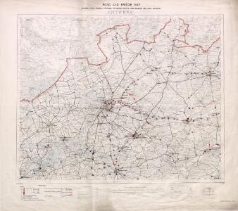 Road and Bridge Map: Antwerp