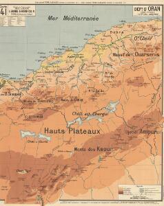 Dépt D' Oran carte physique