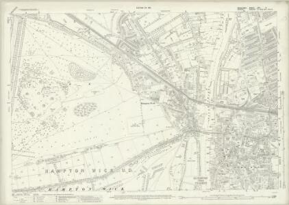 Middlesex XXV.8 (includes: Kingston Upon Thames; Twickenham St Mary The Virgin) - 25 Inch Map