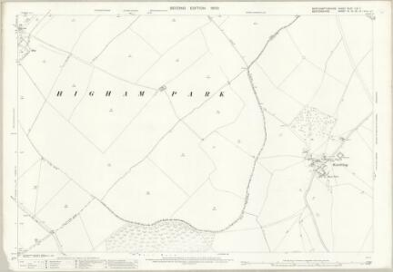 Northamptonshire XLVII.3 & 7 (includes: Knotting and Souldrop; Melchbourne and Yelden; Newton Bromswold; Rushden; Sharnbrook) - 25 Inch Map