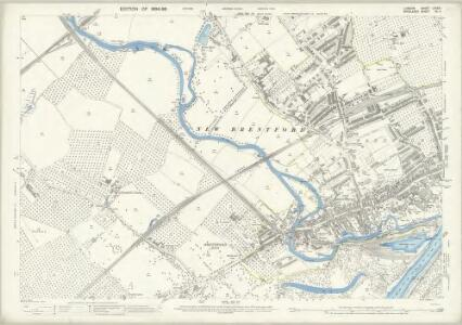 London (Edition of 1894-96) LXXXIII (includes: Ealing St Mary; Heston and Isleworth; New Brentford; Old Brentford) - 25 Inch Map