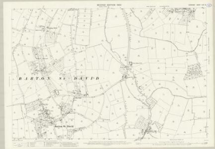 Somerset LXIV.5 (includes: Baltonsborough; Barton St David; Lydford) - 25 Inch Map
