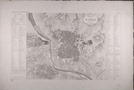 Plan de Madrid et de ses environs