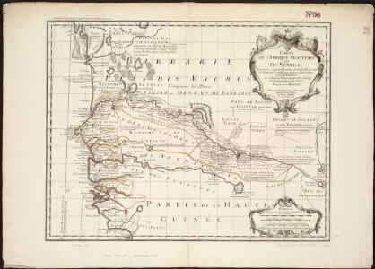 Carte de l'Afrique Françoise ou du Sénégal, dressée sur un grand nombre de cartes manuscrites et d'itineraires rectifiés par diverses observations