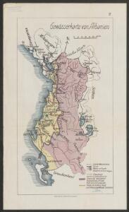 Gewässerkarte von Albanien