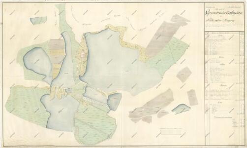 Geometrický plán pozemků dvora Podhrad 1