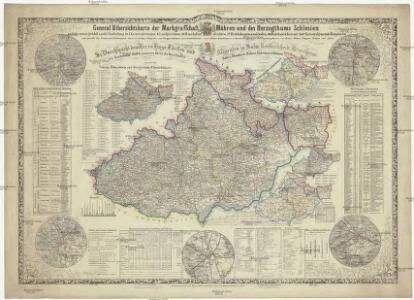 General Uibersichtskarte der Markgrafschaft Mähren und des Herzogthums Schlesien