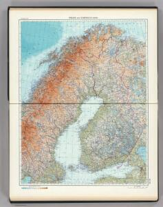 52-53.  Finland, Scandanavia, North.  The World Atlas.