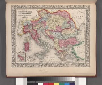 Map of the Austrian Empire, Italian States, Turkey in Europe, and Greece ; Maltese Islands [inset]