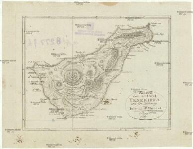 Charte von der Insel Teneriffa