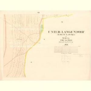 Unter Langendorf (Dilnj Laucka) - m0488-1-007 - Kaiserpflichtexemplar der Landkarten des stabilen Katasters