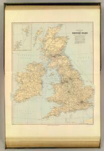 Railway map, British Isles.