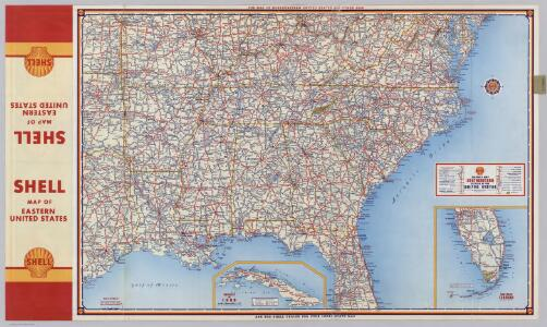 Shell Highway Map Southeastern Section of the United States.