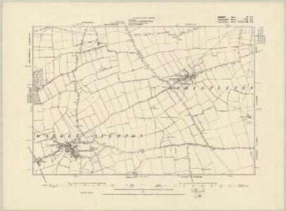Lincolnshire CXXXVII.SW - OS Six-Inch Map