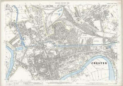 Cheshire XXXVIII.11 (includes: Chester; Hoole) - 25 Inch Map