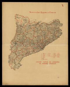 Divisió actual de Catalunya en partits judicials