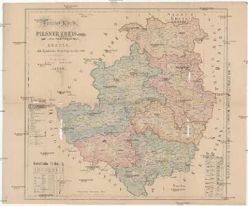Special-Karte des Pilsner Kreis, resp. politischen Verwaltungsbezirkes in Boehmen
