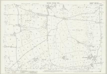 Devon XXIII.11 (includes: East Anstey; Knowstone; Oakford) - 25 Inch Map