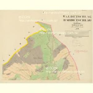Waldetschlag und Hardetschlag - c1787-1-002 - Kaiserpflichtexemplar der Landkarten des stabilen Katasters