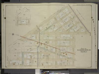 Brooklyn, Vol. 5, Double Page Plate No. 7; Part of    Wards 29 & 32, Section 15; [Map bounded by Remsen Ave., Avenue B, Ralph Ave.;    Including Tilden Ave. (Vernon Ave.), E. Fifty Fifth St., Lenox Road]; Sub Plan;  [Map bounded by Remsen Ave., E. 57t