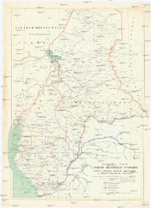 Carte du réseau fluviale navigable de l'Afrique equatoriale française
