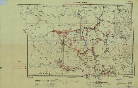 Southern Sudan (1951) Distribution of Population During Wet Season