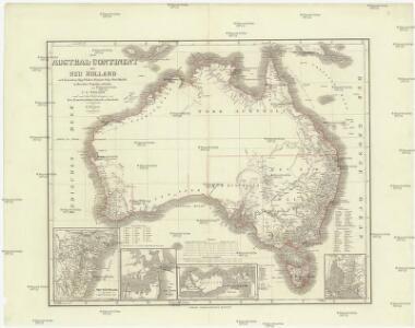 Das Austral-Continent oder Neu Holland nach Krusenster, King, Flinders, Freyeinet, Oxley, Sturt, Mitchell
