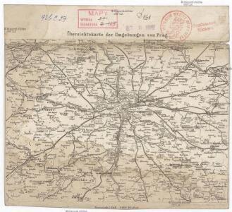 Übersichtskarte der Umgebungen von Prag